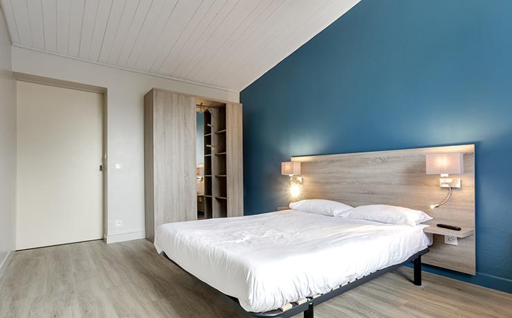 logmt 2ch 3pers PMR chambre double village vacances hauteville sur mer