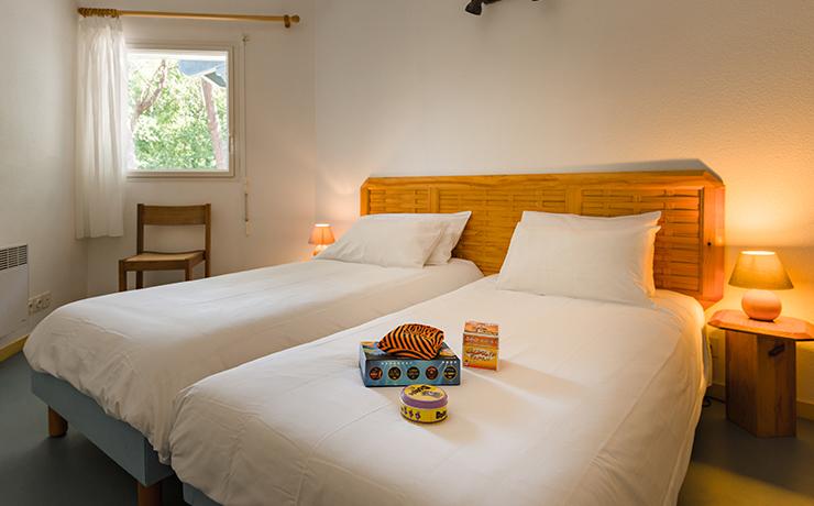 chambre logement 2 ch 3 foret village vacances lacanau