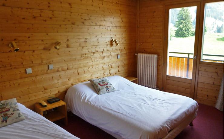 chambre triple panoramique village vacances la clusaz