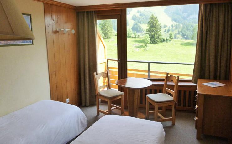 chambre twin panoramique village vacances la clusaz