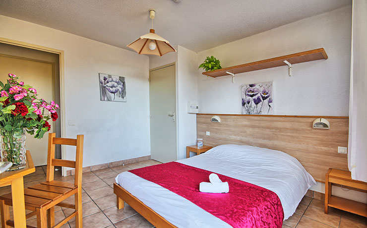 chambre double Logement 2 chambres 3 pers